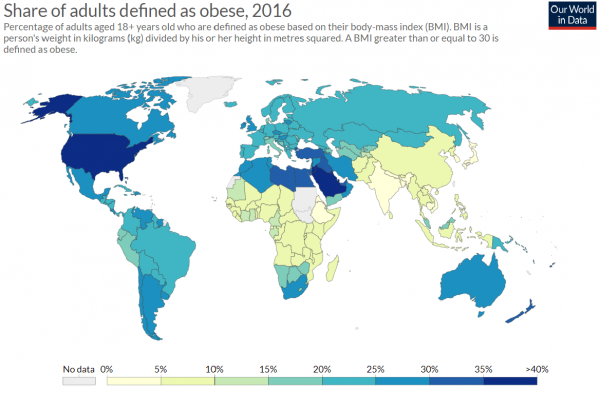 obesity map 2016
